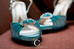 Hand dyed blue shoes (by the bride). Photograph by Erin Lee of thephotographycollection. Venue Riverwood Mansion in Nashville, TN.