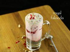 royal falooda Cherry Ice Cream, Vanilla Ice Cream, Falooda Recipe, Rose Milk, Indian Street Food, Indian Desserts, How To Make Homemade, Dried Fruit, Ice Cream Recipes
