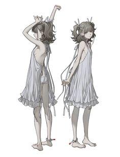 キャラクターデザイン - 終夜 Fantasy Character Design, Character Design Inspiration, Character Concept, Character Art, Concept Art, Fantasy Characters, Anime Characters, Anime Lineart, Art Reference Poses