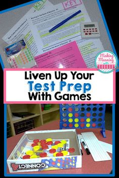 Tired of boring test prep? Try using games to liven it up! Great for big kids, even my high school juniors! Staar Test, Math Test, Fun Test, Test Prep, 4th Grade Ela, Third Grade, Ela Games, Reading Test, Middle School Science