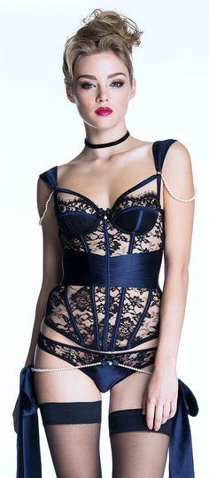 Black Lingerie... Blue