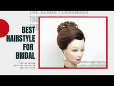 Beautiful Bridal Hairstyles Tutorial With High Bun. Subscribe to the channel for more videos of wedding   prom hairstyles for long hair. In my video tutorials, you ... Easy Everyday Hairstyles, Simple Hairstyles, Trending Hairstyles, Bridal Hairstyles, Bold Hair Color, Hot Hair Colors, Hair Color For Women, Ponytail Hair Extensions, Ponytail Extension