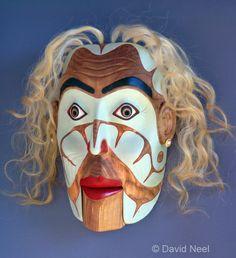 The Aging Trophy Wife portrait mask.   #nativeamerican #haida #kwakiutl