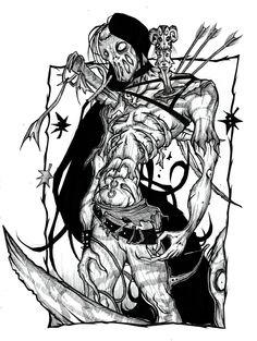 Ghost Hunters. #skeleton #hunter #demon #artwork #art #imaginative #artist #TYRRC #book