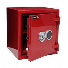 Sejf ognioodporny TYTAN F.30.E EXCLUSIVE RED Lockers, Locker Storage, Home Decor, Decoration Home, Room Decor, Locker, Home Interior Design, Closet, Home Decoration