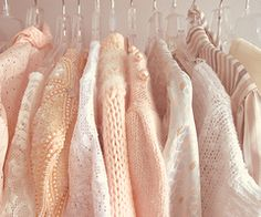 ivory, peach, coral and soft apricot clothes look so pretty in spring