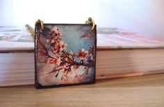Cherry Blossom Necklace Photography necklace Photo by KandyDisenos, €15.00