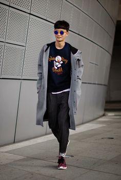 On the street... Seungjun An fashion week 2015 S/S ~ echeveau