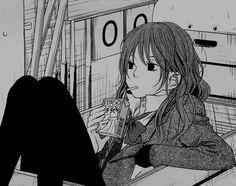 manga, anime, and tonari no kaibutsu-kun image Manga Girl, Chica Anime Manga, Otaku Anime, Anime Art Girl, My Little Monster, Little Monsters, Anime Expressions, Gothic Anime, Manga Illustration