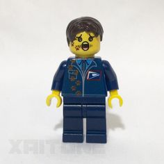Bad Day Mailman - Custom Dog Trampled Lego Letter Carrier Minifigure / Minifig