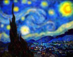De schilderijen van Van Gogh krijgen een extra dimensie in de tilt-shifts van Serena Malyon.