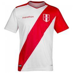 Peru Football, Football Jerseys, Shirt Designs, Soccer, T Shirt, Senior Boys, Vintage Clothing, Creative Crafts, Shirts