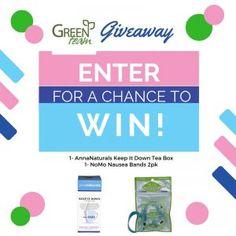 Green Team Giveaway- Enter to Win Anna Naturals Tea & NoMoNausea Bands | Green Team Distribution