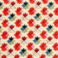 BR-89071 - M13  OATLANDS TAPESTRY - RED/GREEN- inspiration for a quilting design