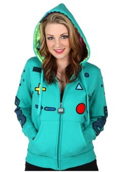 Adventure Time Women's Beemo Casual Costume Character Hoodie. Check it out now @HalloweenCostumes! #Promotion
