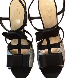 6c9ca56a827 Kate Spade Black and Silver Ivy Heels Formal Shoes Size US 8 Regular (M