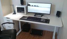 Office Games, Office Setup, Pc Setup, Room Setup, Ultimate Gaming Setup, Gaming Computer Setup, Computer Technology, Video Game Rooms, Office Desktop