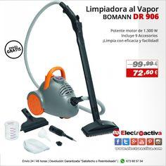 ¡Limpia superficies sucias con facilidad! Limpiadora al vapor BOMANN DR 906 http://www.electroactiva.com/bomann-limpiador-al-vapor-dr-906.html #Elmejorprecio #Limpiadoraalvapor #Electrodomestico #PymesUnidas