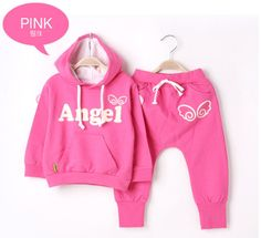 Kids Set Girls Boys suit Retail 1 Set 2 Pieces baby Wings 2013 Sports Casual Clothing Suit children's Clothes For Autumn Winter $16.99