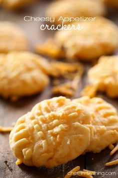 Cheesy Appetizer Crackers from chef-in-training.com ...These crackers are soft, fluffy, cheesy and ONLY FOUR ingredients! A definite must try recipe!