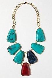 Anthropologie Stoneslab Bib Necklace...