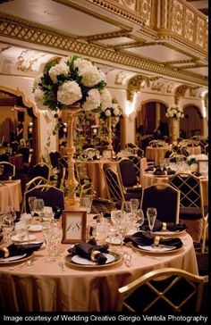 Wedding tablescape at The Knickerbocker Hotel, coordinated by Camille Victoria Weddings LLC.