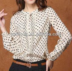 El último diseño elegante en blusas de chifon/punto las mujeres camisa/camisa de fantasía 2013-Blusas Mujer-Identificación del producto:9144...