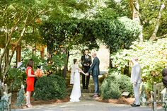 """""""I do"""" at the Arbor at Aldridge Gardens. Florals by Marked. October 2014. Photo credit Morgan Trinker"""