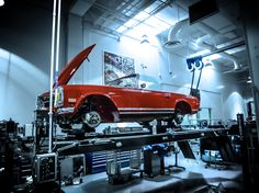 1968 280 SL at the Classic Center. Almost done!