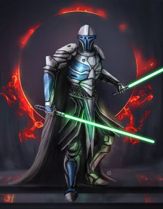 I wanted my Jedi Knight to look more Knightly. The star wars hype is real