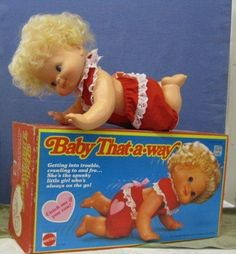 Vintage Mattel Toy Crawling Doll