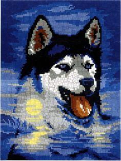 0243-roberto-husky Husky, Cross Stitch Animals, Pearler Beads, Plastic Canvas Patterns, Hand Crochet, Cross Stitching, Cross Stitch Patterns, Craft Projects, Disney