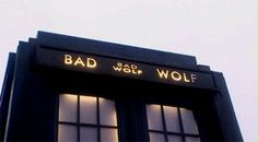 """""""I am the Bad Wolf. I create myself. I take the words. I scatter them… in time, and space. A message to lead myself here.""""  ~ This was probably one of my favorite episodes of Doctor Who ever."""