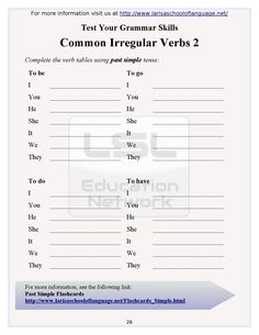 English grammar worksheets for everyone. These worksheets are a favorite with students young and not. Larisa School of Language created over 100 worksheets to help anyone learn English. 1st Grade Math Worksheets, English Grammar Worksheets, English Vocabulary, English Class, English Lessons, Learn English, Cycling For Beginners, English For Beginners, Grammar Skills