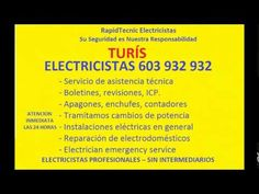 Electricistas TURIS 603 932 932 Baratos
