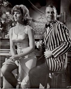 """Tina Louise as """"Topaz McQueen' and Paul Lynde as sour nightclub pianist 'Sid Hoyt' in For Those Who Think Young Tina Louise, Female Actresses, Actors & Actresses, Classic Actresses, Female Celebrities, Celebs, Mary Ann And Ginger, Ginger Grant, Beach Blanket Bingo"""