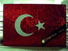 Türk bayrağı  pullu tabela çalışması imalat görselleri örnekleri çeşitleri