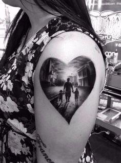 Tattoo heart family tatuaggio famiglia cuote