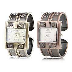 Damen+Armband-Uhr+Quartz+Band+Armreif+Braun+Bronze+–+EUR+€+10.77 Casual Watches, Cool Watches, Square Watch, Watches Online, Fashion Watches, Bronze, Bracelet Watch, Quartz, Bracelets