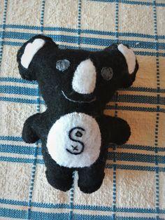 Wool felt Koala Bear for a CWS baseball fan.