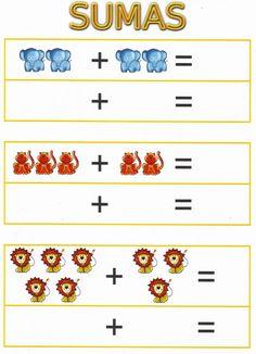 Juegos de sumas y restas ¿Quieres aprender a sumar y restar jugando? Os dejamos estas sencillas fichas con números y Kindergarten Addition Worksheets, Kindergarten Math Worksheets, Preschool Printables, Preschool Math, Preschool Worksheets, Teaching Math, In Kindergarten, Math Games, Learning Activities