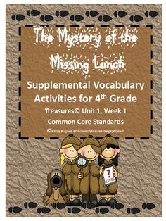 This Vocabulary Activity packet includes activities to supplement 4th Grade Treasures Unit 1 Week 1. Activities Include:Anchor ChartVocabular...