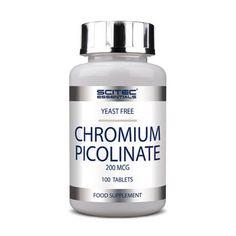 CHROMIUM PICOLINATE 200mcg 100 Tabs - SCITEC ESSENTIALS