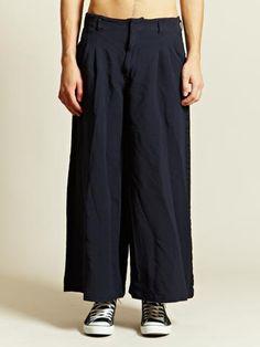 COMME DES GARCONS HOMME PLUS MEN'S ESTER DOUBLE CLOTH SERGE TROUSERS