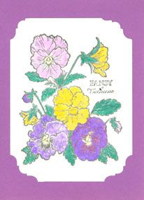 Mother's Day Pansy handmade card