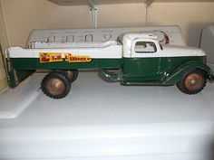Vintage 40's- 50's Steel Buddy L Towing Service Truck