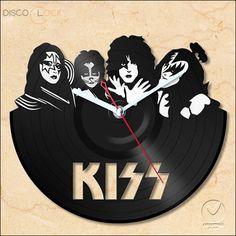 Relógio de Disco de Vinil (KISS)