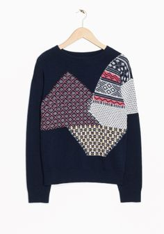 & Other Stories | Jacquard Patchwork Sweater