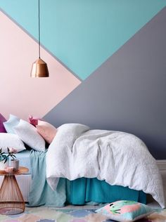 Bedroom wall paint - Home Bohemian Bedroom Decor from Around the World – Bedroom wall paint Room Wall Painting, Kids Room Paint, Painting Bedrooms, Wall Paintings, Home Decor Bedroom, Bedroom Wall, Room Color Ideas Bedroom, Design Bedroom, Geometric Wall Art