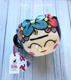 Frida Summer Bowl by Tijuana Store 💖 - Pottery ♡ - Ceramic Clay, Ceramic Pottery, Pottery Art, Pottery Store, Frida Kahlo Cartoon, Blue Wedding Decorations, Frida And Diego, Painted Plant Pots, Freaks And Geeks